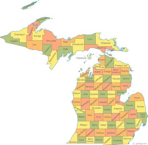 map of usa showing michigan state michigan cities map