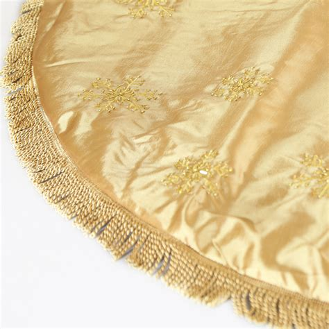 tree skirts 56 quot gold tree skirt with tassels