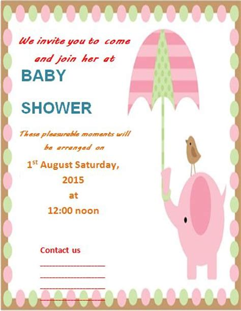 baby shower flyer template word stackerx info