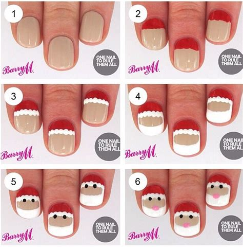 tutorial nail art sendiri christmas nailart tutorial super easy musely