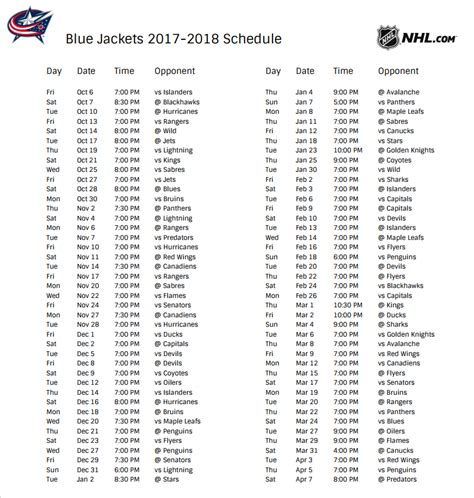 printable blue jackets schedule blue jackets gearing up for 2017 2018 season arena district