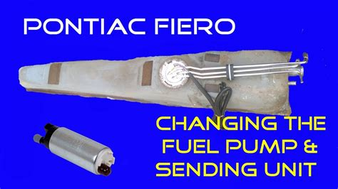 how do you replace a fuel pump and filter on 1991 chevy pontiac fiero how to replacing the fuel pump also for 3800 swaps youtube