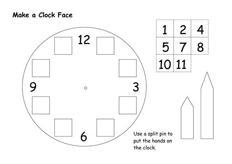 Make Your Own Paper Clock - search results for blank clock template with