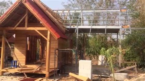 wood to build a house thai teak wood house in korat continue build youtube