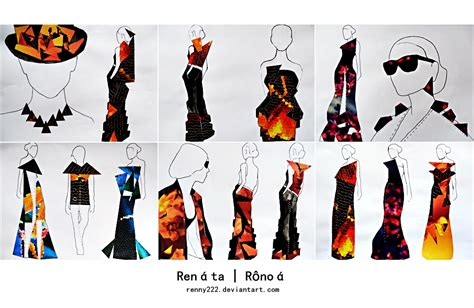 collage fashion illustrations by renny222 on deviantart