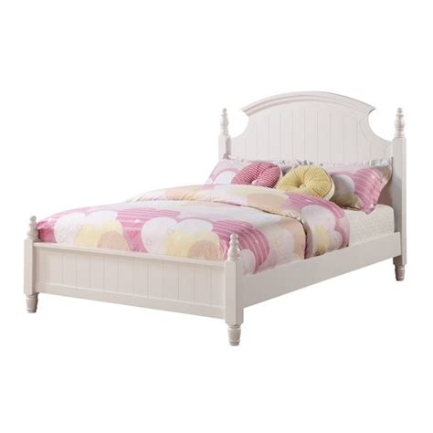 white poster bed coaster bethany full poster bed in white 400681f