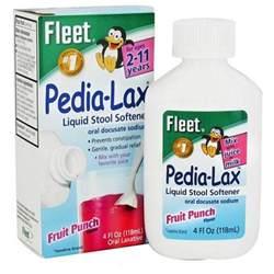 fleet pedia lax stool softener for fruit punch 4 oz