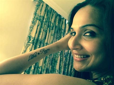 superstar s daughter soundarya has got rajinikanth tattoo