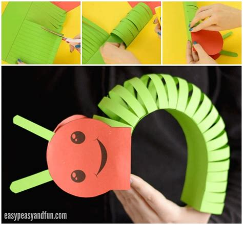 caterpillar crafts for 3d paper caterpillar craft with template easy peasy and