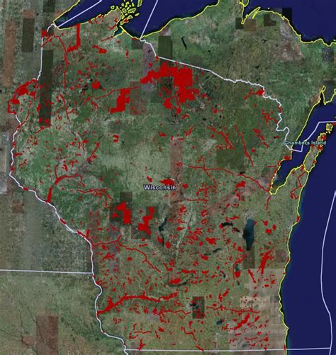 Wisconsin Records Free Wisconsin Dnr Land Map Wisconsin Map