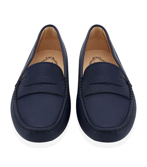 tod s gommino leather driving shoe in blue lyst