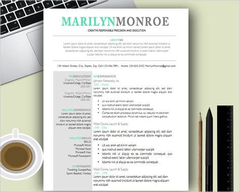 free creative resume templates for mac resume resume