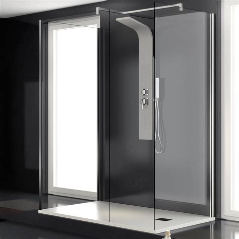 doccia tre lati box doccia walk in 70x120x70 tre lati per sostituzione