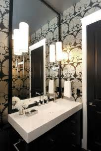 deco bathroom ideas deco wallpaper for the bathroom decoist