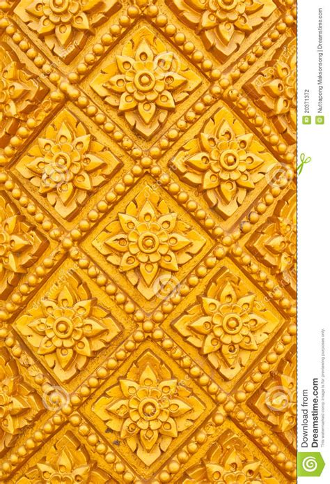 Handcraft Design - thai style pattern design handcraft on wood stock photo
