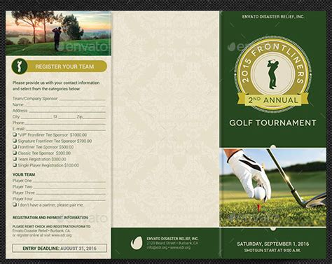 golf brochure template 10 popular free and premium golf brochure templates