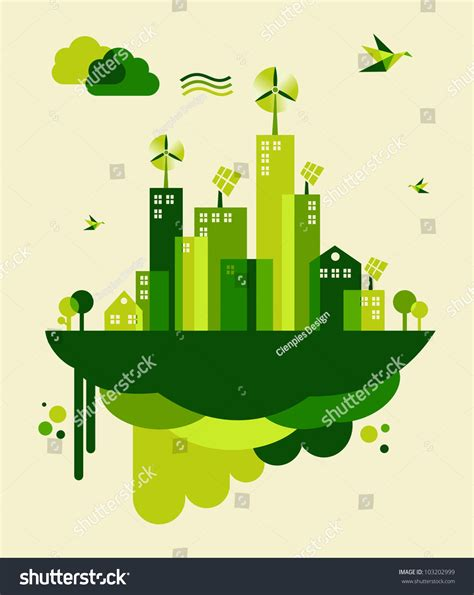 go green city background stock vector image of media go green city industry sustainable development stock