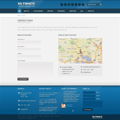 Ultimate Multi Purpose Psd Template Design Blog Contact Us Page Template Html