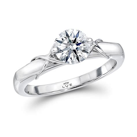 stunning lve solitaire engagement ring lve