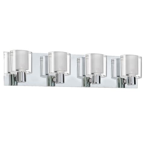 Vanity Lights Bathroom Dainolite Lighting 4 Light Polished Chrome Bathroom Vanity Light Lowe S Canada