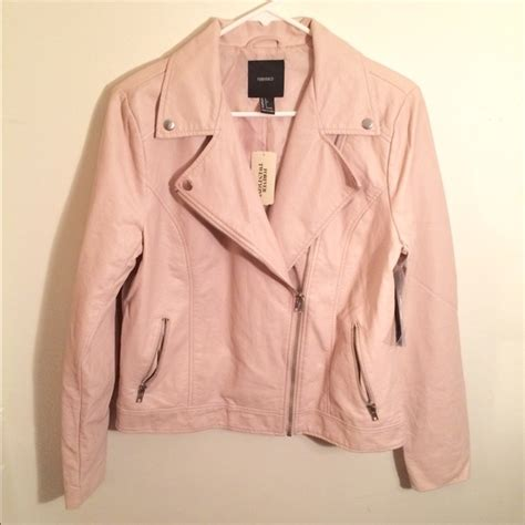 light pink jacket forever 21 faux leather moto jacket light pink from