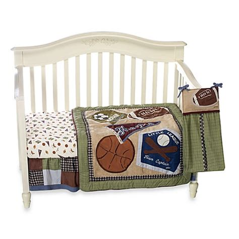 sports baby bedding cocalo baby 174 sports fan 8 piece crib bedding bed bath