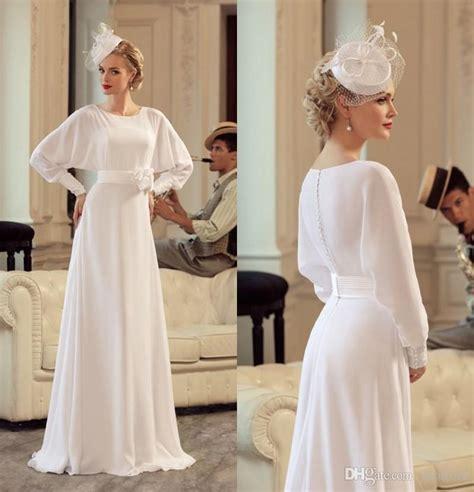Vintage Silk Wedding Dresses by Discount Vintage Silk Chiffon Wedding Dresses