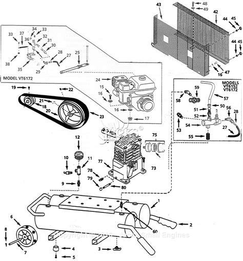 cbell hausfeld vt617204 parts diagram for air compressor parts