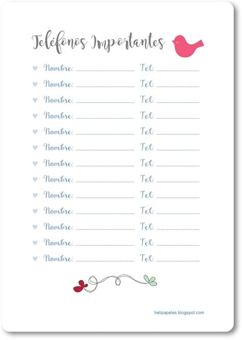 heli papeles diario de embarazo para imprimir