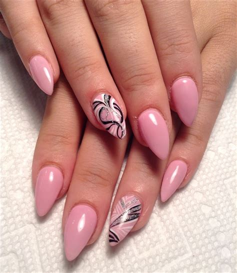 Party Nägel Dorable Pointy Pink Nails Ideas Nail Paint Design Ideas