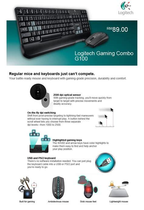Keyboard Mouse Logitech G100 logitech gaming combo g100 keyboard and mouse swisspac my