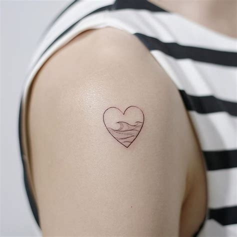 wave heartbeat tattoo but with circling waves maybe tattoos