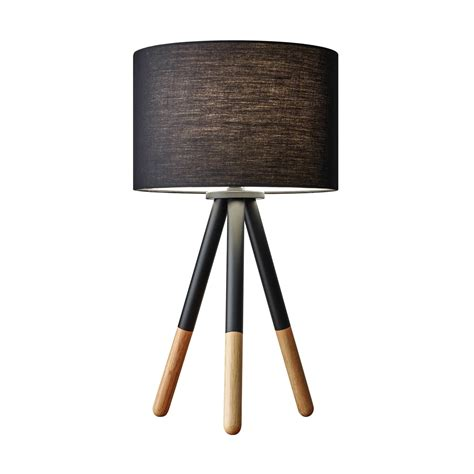 Table L With Drum Shade by Adesso Louise Table L With Drum Shade L Brilliant