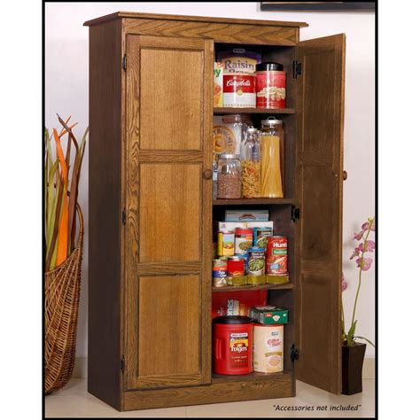 Shopping For Kitchen Cabinets Concepts In Wood Multi Use Storage Pantry In Oak Medium Brown Wood Shop Your Way