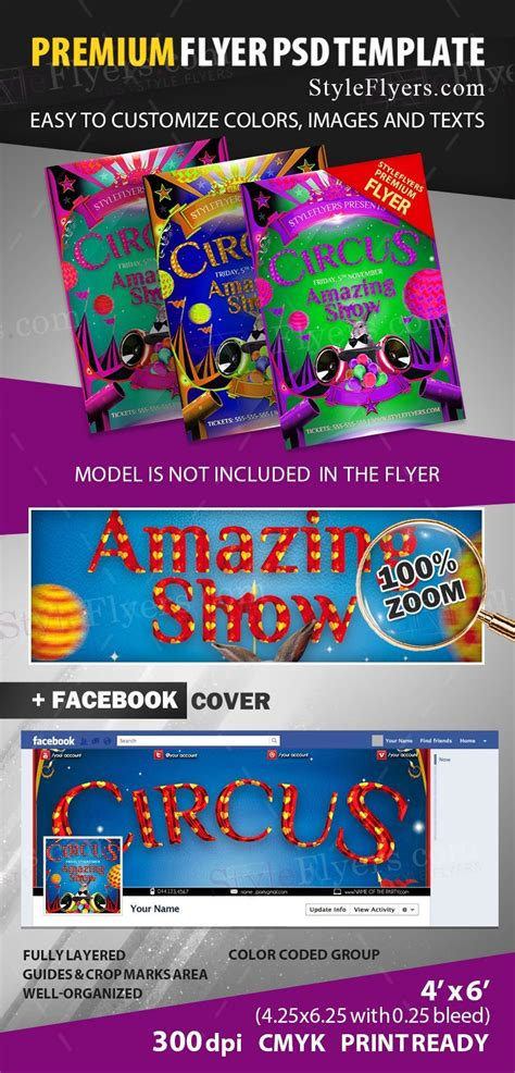 Circus Flyer Template by Circus Psd Flyer Template 12427 Styleflyers