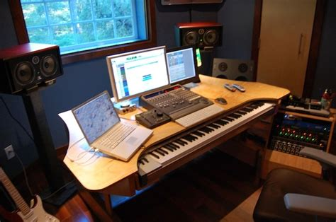 My Custom Built Production Desk With A Sliding 88 Key Studio Production Desk