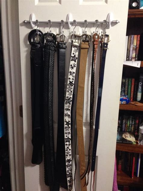 command hooks for curtain rods belt organizer hanger made using a small curtain rod