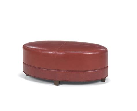 Oval Leather by Oval Leather Ottoman High Quality Leather Ottoman In