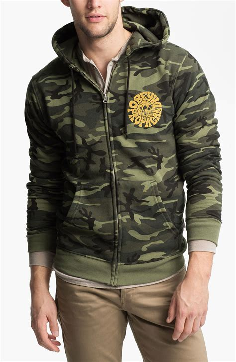 Obey Camo obey skull graphic camo hoodie in for classic camo lyst