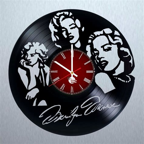 house music vinyl records for sale marilyn monroe vinyl record wall clock unique gift vinyl clocks