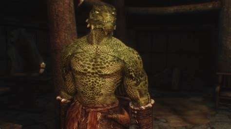 argonian and khajiit digitgrade with sos body texture at bulky skeleton for beast races at skyrim nexus mods and