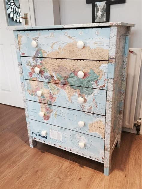 Decoupage Furniture With Wallpaper - a decoupage guide upcycling your bedroom furniture oak