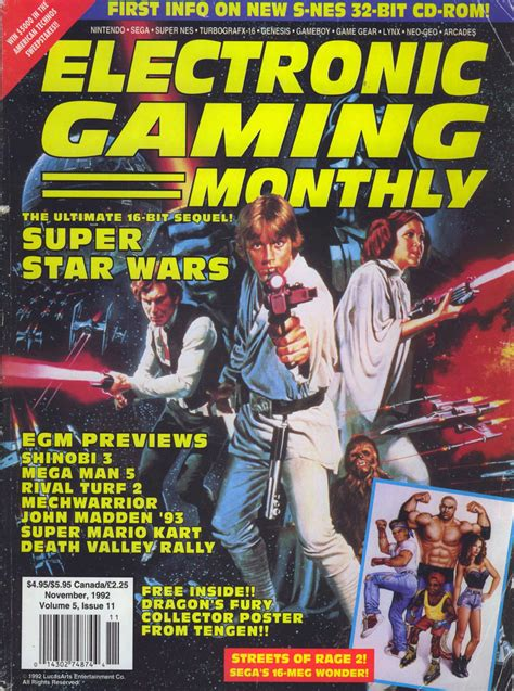 Gameplayer Magazine De magazine electronic gaming monthly wars v5 11 of 12 1992 11 page 1