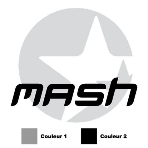 mash jeep decals mash logo in 2 colors decal