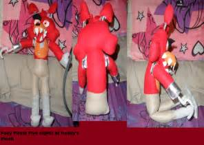 Fnaf foxy costume foxy pirate cove plush fnaf by