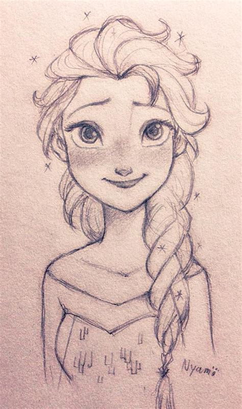 doodle draw frozen elsa so frozen so and i