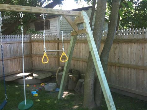 build a wooden swing set woodworking plans for building a simple swing set out of