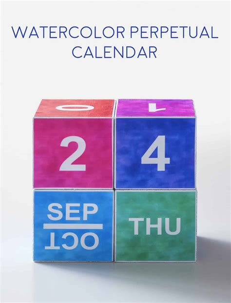 watercolor 2015 2016 printable calendar u create watercolor perpetual calendar with free printable mod