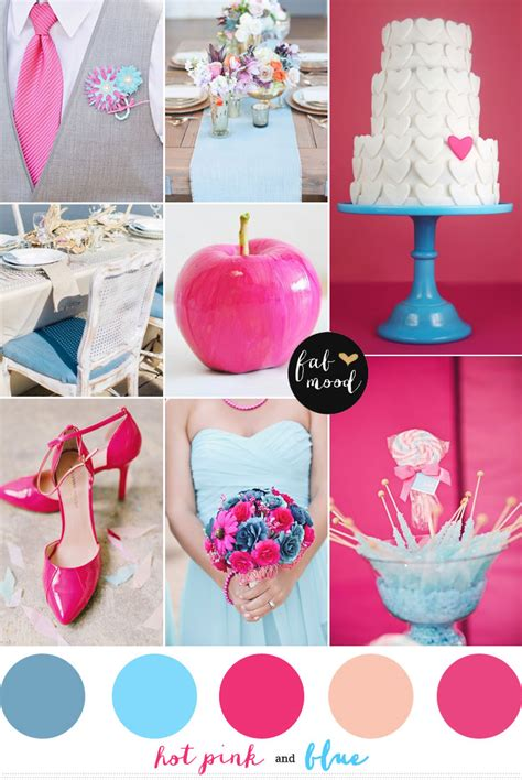 pink and blue wedding colors blue and pink wedding colors