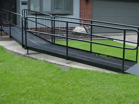 galvanized steel wheelchair ramps  compliant handiramp